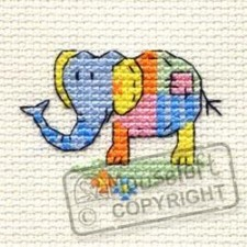 Borduurpakket Patchwork Elephant