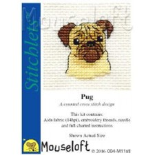 Borduurpakket Mopshond - Pug