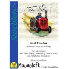 Borduurpakket Rode tractor - Red Tractor