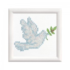 Diamond Dotz Dove of Peace with Frame - Needleart World