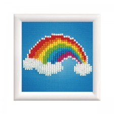 Diamond Dotz Ever Living Rainbow with Frame - Needleart World
