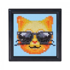 Diamond Dotz Kool Kat with Frame - Needleart World
