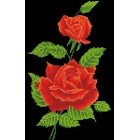 Diamond Dotz Rode Roos Corsage - Red Rose Corsage