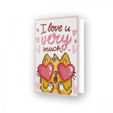 Diamond Dotz Greeting Card Love You