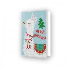 Diamond Dotz Greeting Card Merry Christmas Llama