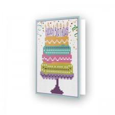 Diamond Dotz Greeting Card Happy Birthday Cake