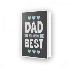 Diamond Dotz Greeting Card Best Dad