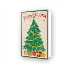 Diamond Dotz Greeting Card Merry Christmas Tree