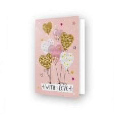 Diamond Dotz Greeting Card Love Balloons