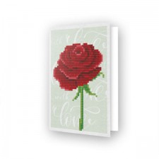 Diamond Dotz Greeting Card Love Rose
