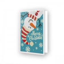 Diamond Dotz Greeting Card Merry Christmas Snowman