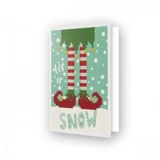 Diamond Dotz Greeting Card Let it Snow