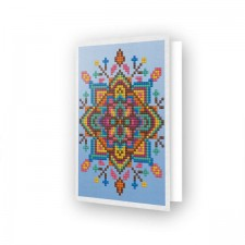 Diamond Dotz Greeting Card Blue Star