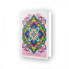 Diamond Dotz Greeting Card Pink Star