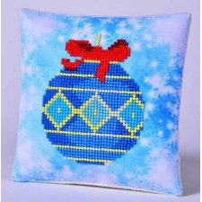 Diamond Dotz Kussen Blue Bauble Pillow