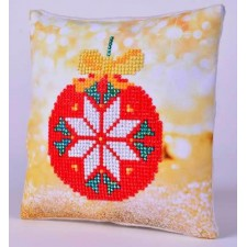 Diamond Dotz Kussen Red Bauble Pillow