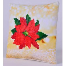 Diamond Dotz Kussen Poinsettia Pillow