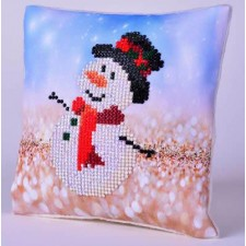 Diamond Dotz Kussen Snowman Top Hat Pillow