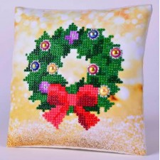 Diamond Dotz Kussen Christmas Wreath Pillow
