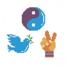 Diamond Dotz Dotzies 3 Stickers Multi Pack - Peace - Needleart World