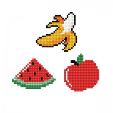 Diamond Dotz Dotzies 3 Stickers Multi Pack - Healthy - Needleart World