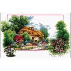 Voorbedrukt borduurpakket English Cottage Lane