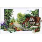 Voorbedrukt borduurpakket English Cottage Stream