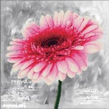Voorbedrukt borduurpakket Pink Dahlia