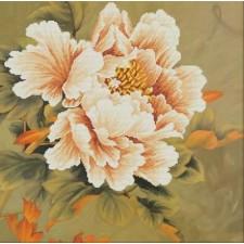 Voorbedrukt borduurpakket Blooming Peony1