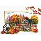 Voorbedrukt borduurpakket Autumn Farm