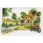 Voorbedrukt borduurpakket Summer Cottage