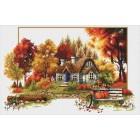 Voorbedrukt borduurpakket Autumn Cottage