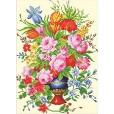 Voorbedrukt borduurpakket Elegant Floral Arrangement
