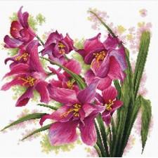Voorbedrukt borduurpakket Lovely Orchids