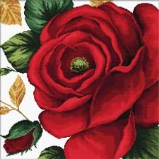 Voorbedrukt borduurpakket Rose