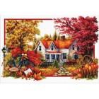 Voorbedrukt borduurpakket Autumn Comes
