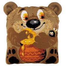 Borduurpakket Teddybeer kussen - Teddy Bear Cushion