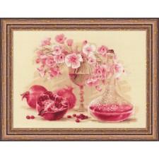 Borduurpakket Roze Granaatappel - Pink Pomegranate