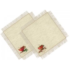 Borduurpakket Thee en koffie servetten - Tea and Coffee Napkins