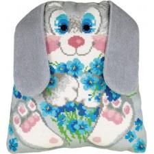 Borduurpakket Konijnenkussen - Bunny Cushion