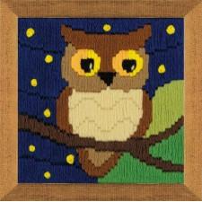 Borduurpakket Uil tussen sterren - Owl Among the Stars