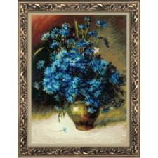 Borduurpakket Korenbloemen - Cornflowers after I. Levitan's Painting