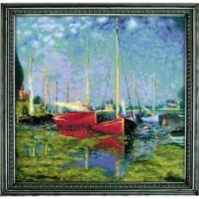 Borduurpakket Argenteuil (Monet) - Argenteuil after C. Monet's Painting