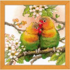 Borduurpakket Vogelliefde - Lovebirds