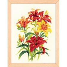 Borduurpakket Tijgerlelies - Tiger Lilies