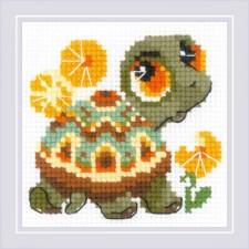 Borduurpakket Kleine Schildpad - Little Turtle