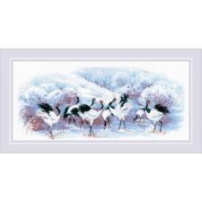 Borduurpakket Japanse Kraanvogels - Japanese Cranes