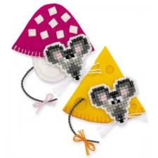 Borduurpakket Magneetmuizen - Magnets Mice
