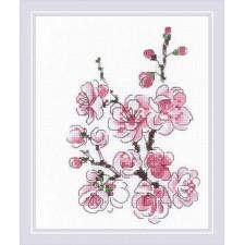 Borduurpakket De tak van Sakura - The Branch of Sakura