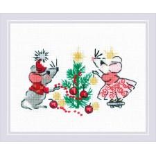 Borduurpakket Wachten op Kerstmis - Waiting for a Holiday - RIOLIS